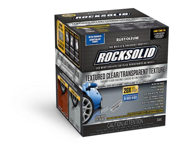 Rust-Oleum RockSolid® Textured Clear Topcoat Concrete & Garage Paint Kit, 3.54-L Product image