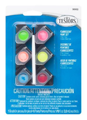 Testors Acrylic Fluorescent Paint Set, 3-mL Product image