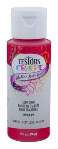 Peinture de bricolage de panneau d'arrêt Testors, 59 ml