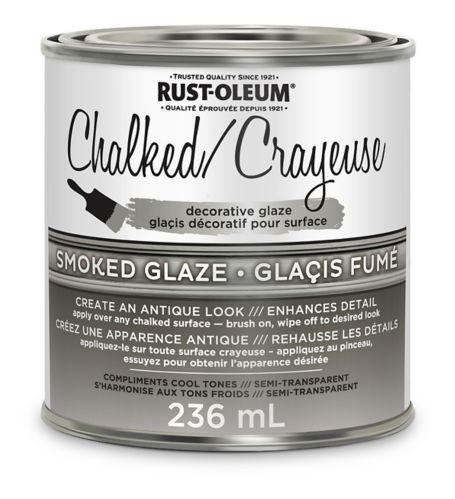 Chalked Decorative Glaze Set, Smoke, 236-mL Product image