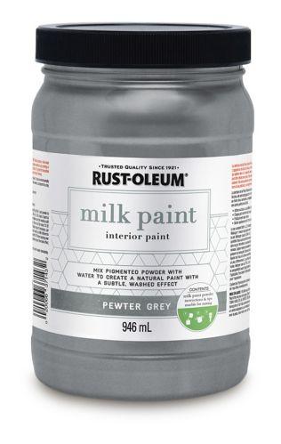 Peinture intérieure au lait Rust-Oleum, gris étain, 946 mL Image de l'article