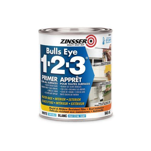 Apprêt d'impression Zinsser Bulls Eye 1-2-3, latex, 946 ml Image de l'article
