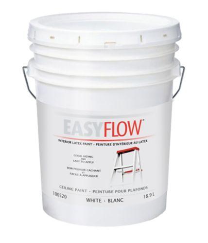Peinture latex d'intérieur Easyflow pour plafonds, mat, 18,5 L