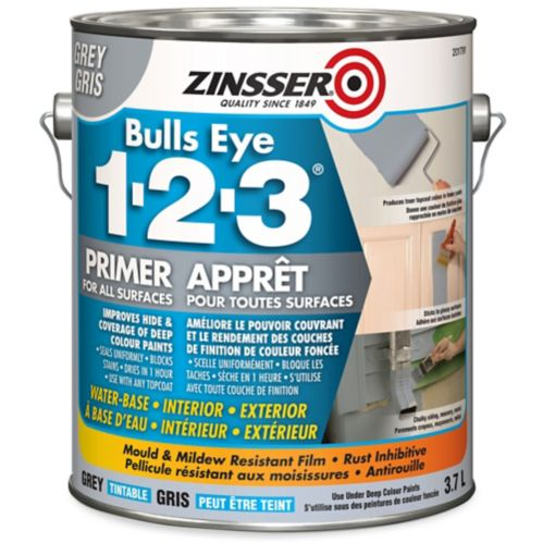 Zinnser® Bulls Eye 1-2-3® Grey Primer, 3.7-L Product image