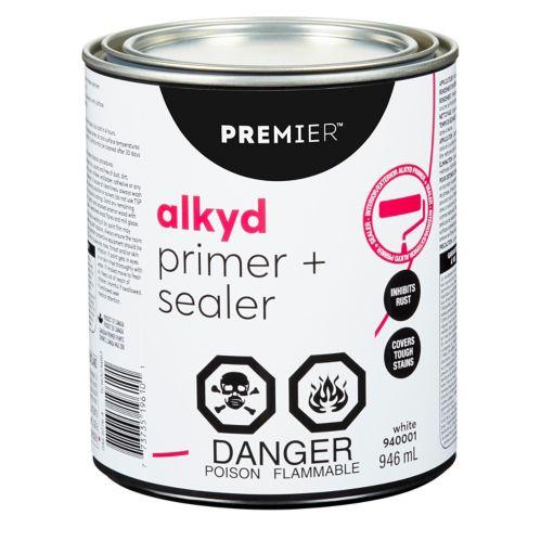 Apprêt alkyde à base d'huile Premier, blanc, 3,78L Image de l'article
