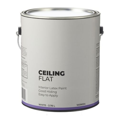 Interior Flat Latex Ceiling Paint, White, 3.78-L Product image