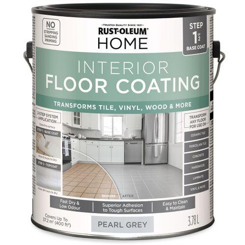 Couche de base pour plancher intérieur Rust-Oleum HOME, gris nacré, 3,78 L Image de l'article