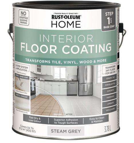 Rust-Oleum HOME Interior Floor Coating Base Coat, Steam Grey, 3.78-L Product image