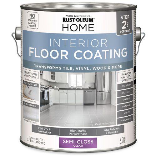 Couche de finition pour plancher intérieur Rust-Oleum HOME, transparent, semi-lustré, 3,78 L