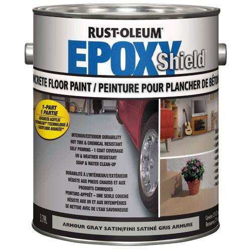 Peinture Epoxy Pour Planchers En Beton Rust Oleum Gris 3 55 L Canadian Tire