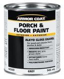 Peinture alkyde d'intérieur et d'extérieur pour galeries et planchers Armor Coat, gris, 946 ml | Armor Coatnull