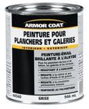 Armor Coat Interior/Exterior Alkyd Porch & Floor Paint, Grey, 946-mL | Armor Coatnull