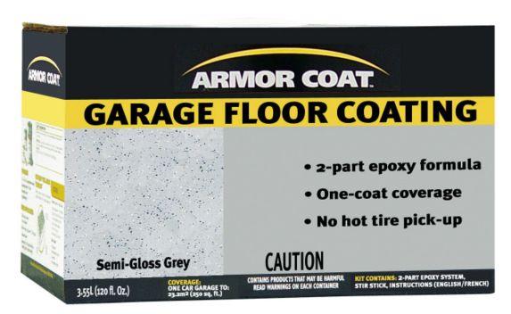Fini Armor Coat Epoxy, plancher de garage, gris semi-lustré Image de l'article