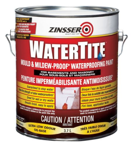 Peinture hydrofuge Zinsser WaterTite, 3,7 L Image de l'article