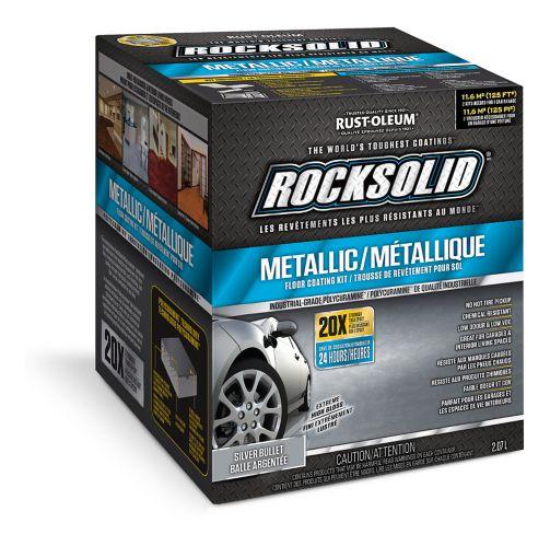 Rust-Oleum RockSolid Metallic Floor Coating Kit, Silver Bullet, 2.07-L Product image
