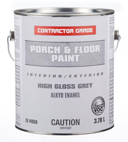 Contractor Grade Porch & Floor Paint, Grey, 1-Gallon