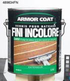 Vernis yacht Armor Coat pour l'extérieur, lustré, 1 gallon | Armor Coatnull