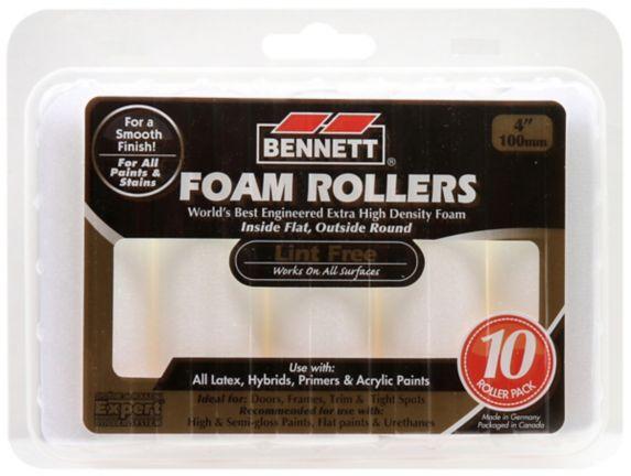 Expert Lint Free Foam Trim Rollers, 4-in, 10-pk