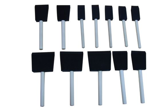Foam Brushes, 10-pk
