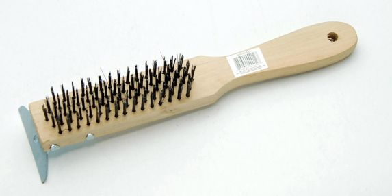 Wire Brush with Scraper, 5-Row Product image
