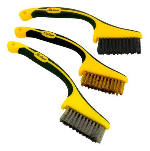 Richard Mini Wire Brushes Kit with Ergonomic Handle, 3-pk Product image