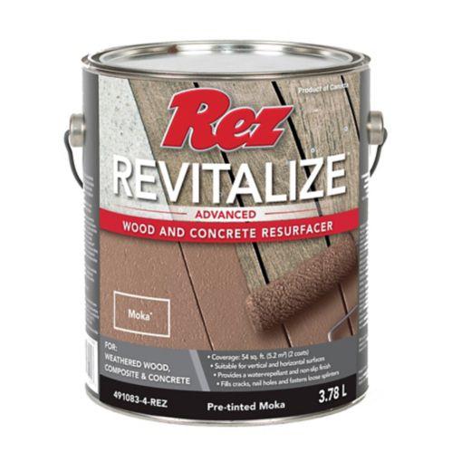 Resurfaceur pour bois et béton Rez Revitalize, moka, 3,78 L