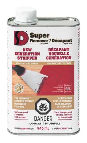 Super Remover Methylene Chloride Free Paint Stripper, 946-mL