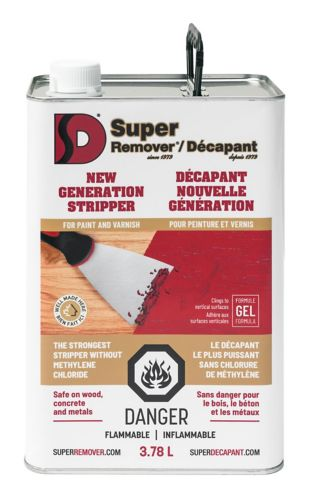 Super Remover Methylene Chloride Free Paint Stripper, 3.78-L