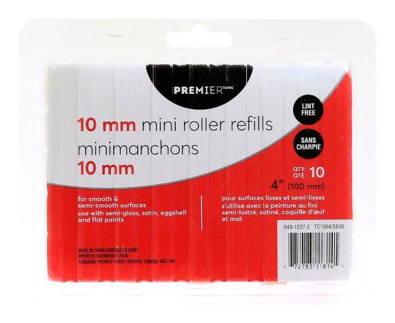 Premier Mini Paint Rollers, 4-in, 10-pk