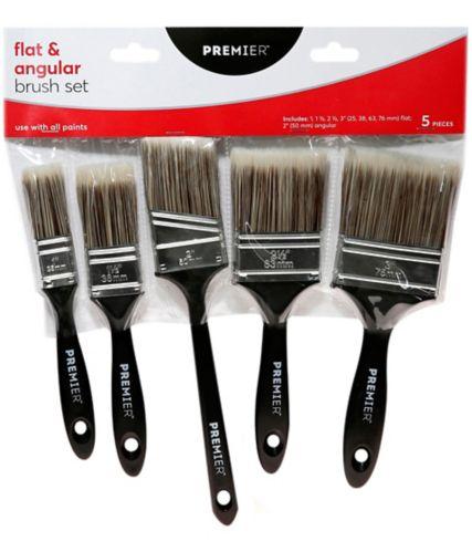 Premier Mixed Paint Brushes, 5-pk Product image