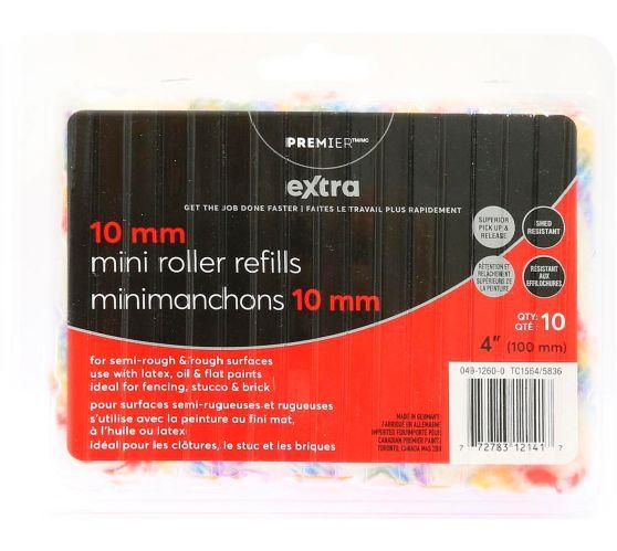 Mini manchons Extra Premier, 4 po, paq. 10