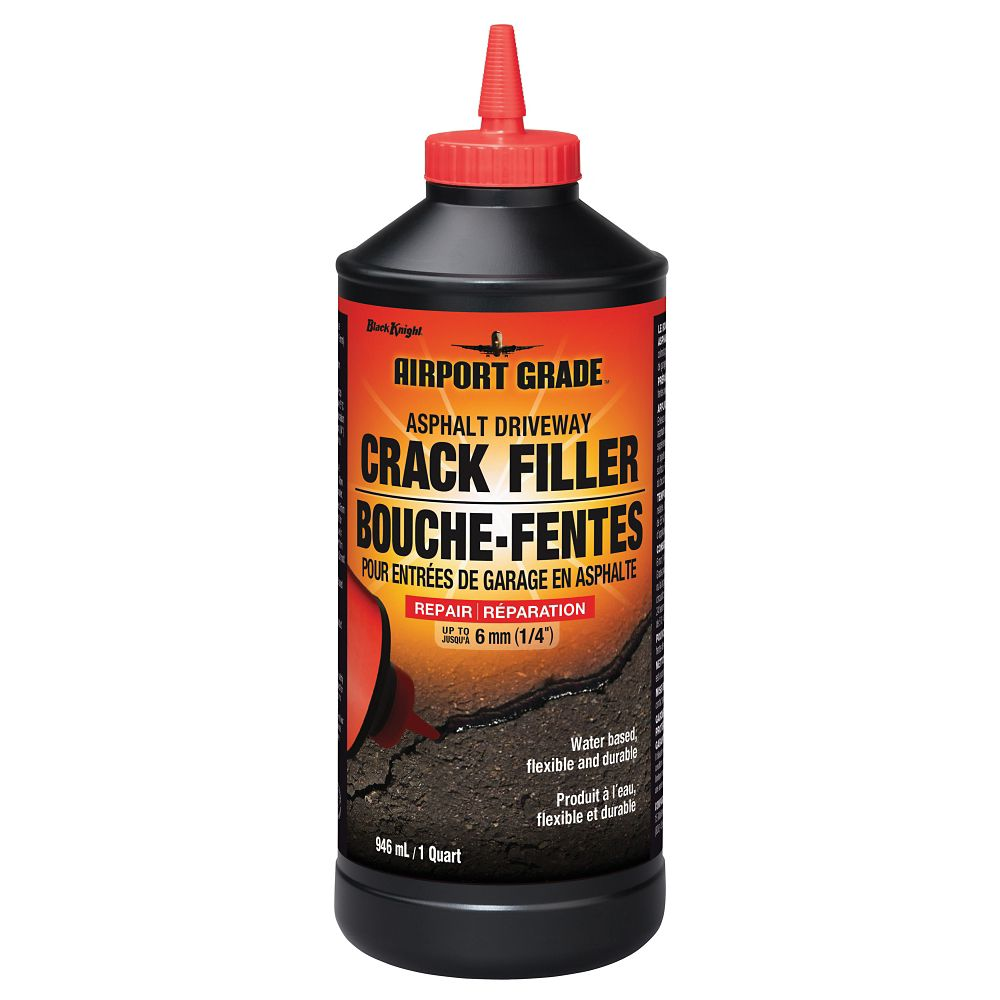 Black Knight Asphalt Driveway Crack Filler, 946-mL