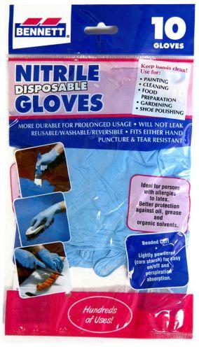 Bennett Nitrile Disposable Gloves, 10-Pk Product image
