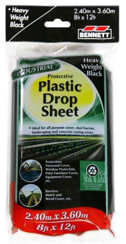 Bennett Plastic Drop Sheet, 8-ft x 12-ft Product image