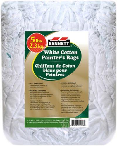 Bloc de chiffons, blanc, 5 lb