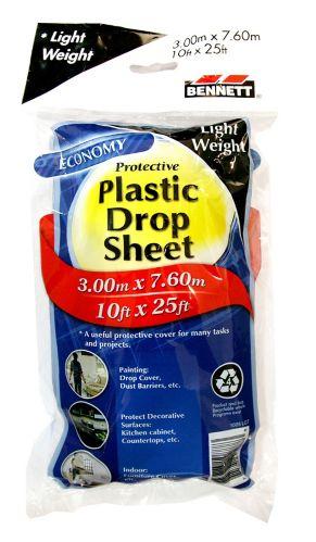 Toile de protection Bennett en plastique, légère, 10 x 26 pi Image de l'article