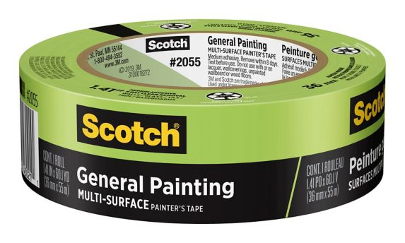 Scotch General Painting Multi-Surface Painter's Tape, 36-mm x 55-m
