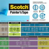 Scotch General Painting Multi-Surface Painter's Tape, 36-mm x 55-m | Scotchnull