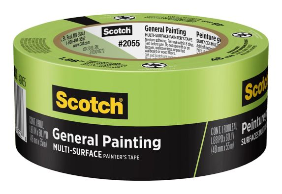 Scotch General Painting Multi-Surface Painter's Tape, 48-mm x 55-m