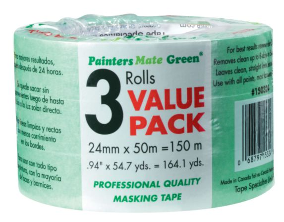 Painter's Mate Green Masking Tape, 180-ft x 1-in, 3-pk Product image