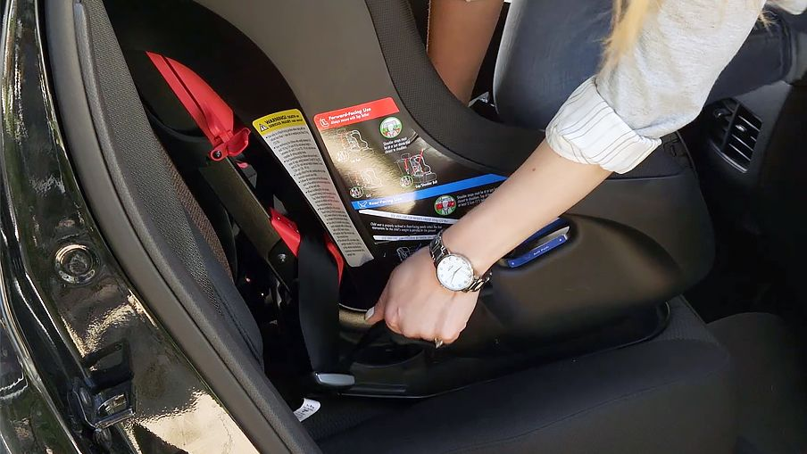 Press Down On The Centre Of Car Seat To Depress Vehicle Cushion