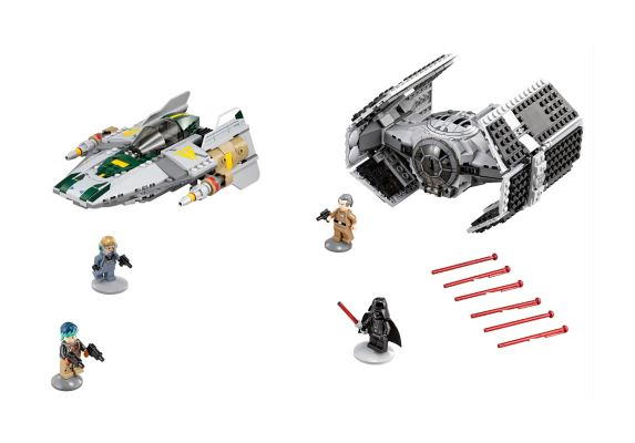 LEGO Star Wars, TIE Advanced de Darth Vader, 702 pièces