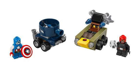 LEGO® Super Heroes Mighty Micros: Captain America vs. Red Skull, 95-pc Product image