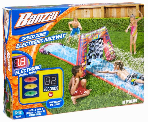 Banzai Time Racer Water Slide, 16-ft