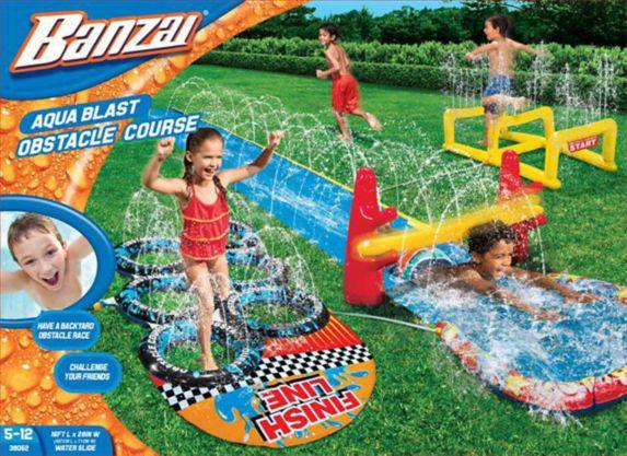 Glissade d'eau et course à obstacles Banzai Image de l'article