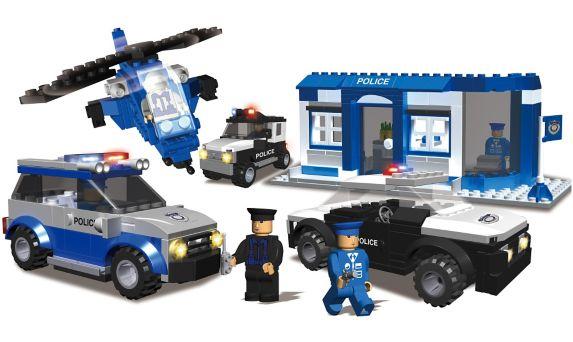 Jeu de construction de voitures de police Image de l'article