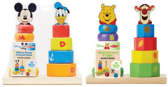 Cubes en bois Melissa & Doug, Mickey ou Winnie l'Ourson