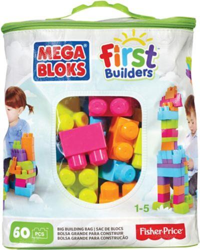Sac de construction Mega Bloks First Builders, 60 pièces Image de l'article