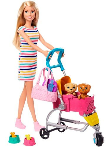 Barbie® Stroll 'n Play Pups™ Playset, Assorted Product image