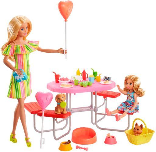 Pique-nique et chiot Barbie